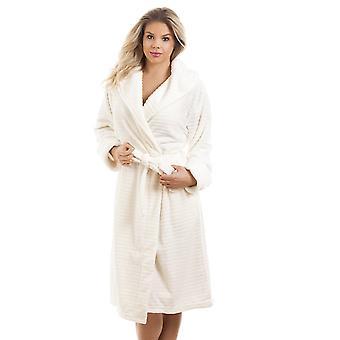 Camille Super zachte Fleece ivoor Dressing Gown