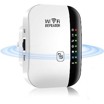 Wi-Fi טווח מאריך / Wi-Fi Booster / Wi-Fi משחזר אלחוטי 300M נקודת גישה (AP) מגבר אותות תמיכה WiFi-N רגיל, 2.4GHz, אנטנות מובנות, תקן IEEE, ממשק, RJ45, WPS הגנה-לבן