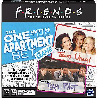 Amigos el que tiene juego de fiesta de apuestas de apartamento