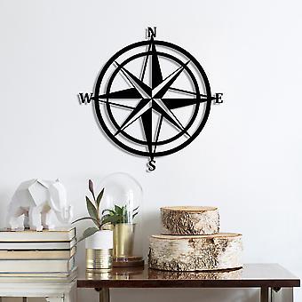 Kompass svart dekorativ metall vägg tillbehör