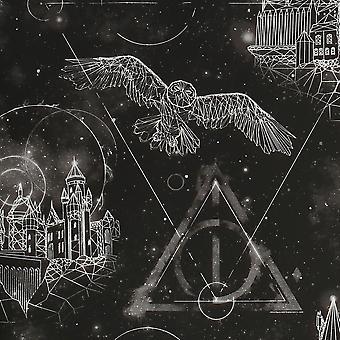 Graham ja graham Ruskea Harry Potter Lumos hehku tumma musta taustakuva 113250