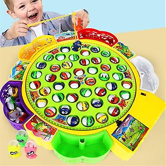 Electric Musical Rotating Fishing Toy Children Board Play Fish Game Magnetic  Toys