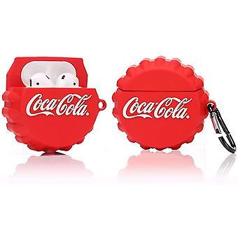 Étui en silicone protecteur pour Apple Airpods 1 et 2, coca cola Pattern 1pc