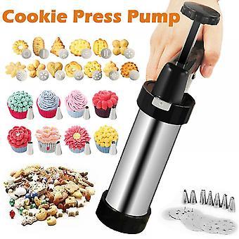 16pcs Biscuits Stamp Press Machine Cake Decorating Biscuit Maker Cookie Tool