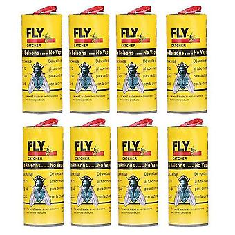 8pcs Insect Glue Tape Strips Sticky Fly Paper Eliminate Flies Bug Catcher Trap