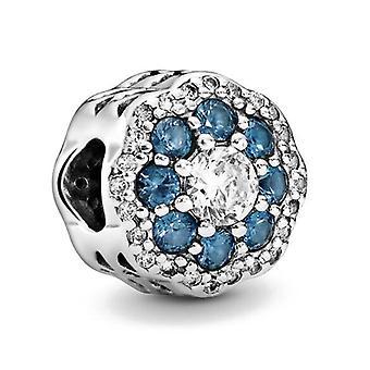 Argento 925 perline cielo lucido oceano blu volpe gufo pandora charms braccialetto per le donne fai-da-te gioielli di moda