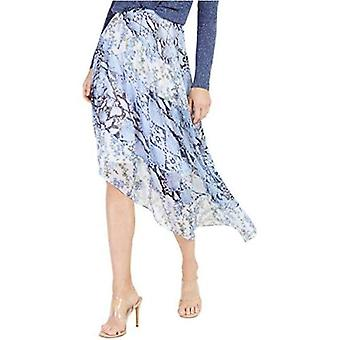 International Concepts INC Womens Animal Print Floral Print Asymmetrical Skirt