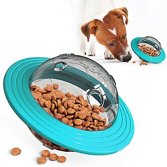 Ufo Shape Interactive Dog Cat Food Ball Bowl Pet Toy Secouant La nourriture Spill Container Puppy Outil d'alimentation