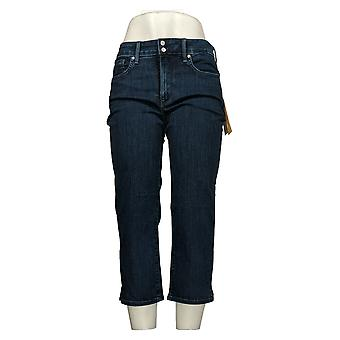 NYDJ Pantalones vaqueros de mujer Cool Abrazar Skinny Crop w / Side Slits Blue A377692