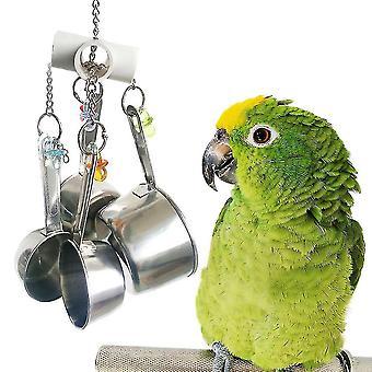 Papoušek Hrnce Hračky Akrylová nerezová hračka