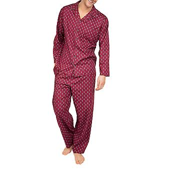 Cyberjammies Frankie 6644 Homme Bourgogne Rouge Paisley Coton Pyjama Top