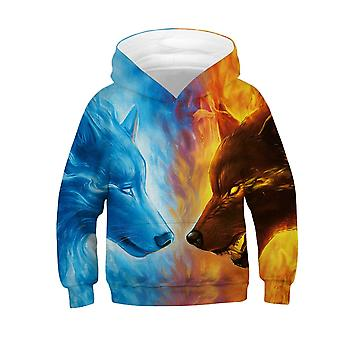 3d Thunder Lion Wolf Fox Teenagers Sweatshirt