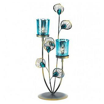 Gallery of Light Peacock Feathers Candle Holder, Pack of 1