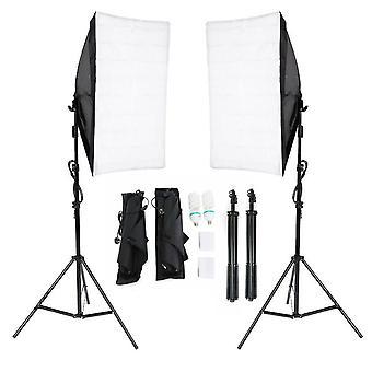 Par de Photography Studio Softbox com Energia Economizando Lâmpadas de 135W Kit Leve