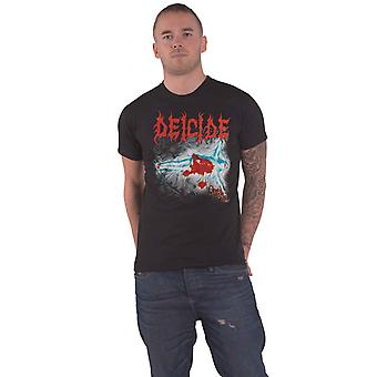 Deicide T Shirt Once Upon The Cross Band Logo new Official Mens Black