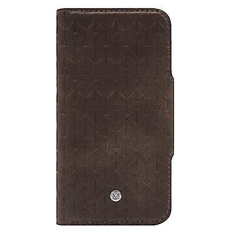 iPhone Xs Max Marvêlle Magnetiskt Skal & Plånbok Mörkbrun
