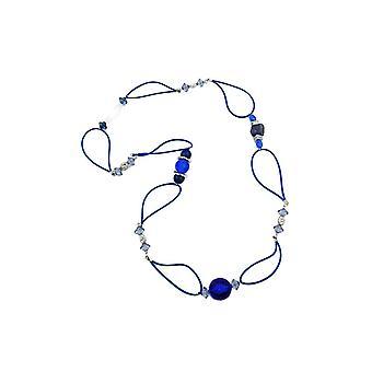 Necklace Blue Beads Blue Chain 95cm 44965 44965 44965
