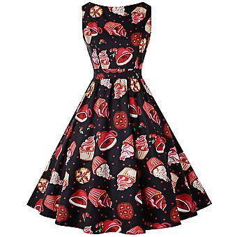 Rockabilly Vintage Hepburn Flared Party Dress Womens Clothing Boho Ball Summer Formal Evening Gown Cocktail Dresses