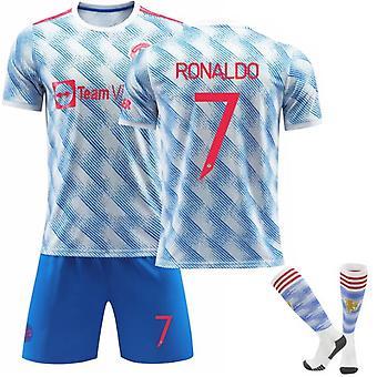 Red Devils Home Nr. 7 C Ronaldo Blaues Trikot Anzug Fußball Trikot