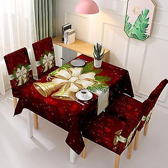 كرسي مفرش المائدة عيد الميلاد تغطية قطعة واحدة غطاء غطاء مفرش المائدة ماصة