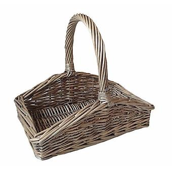 Garden Basket Small Sloped Sided Antique Wash Trug Box