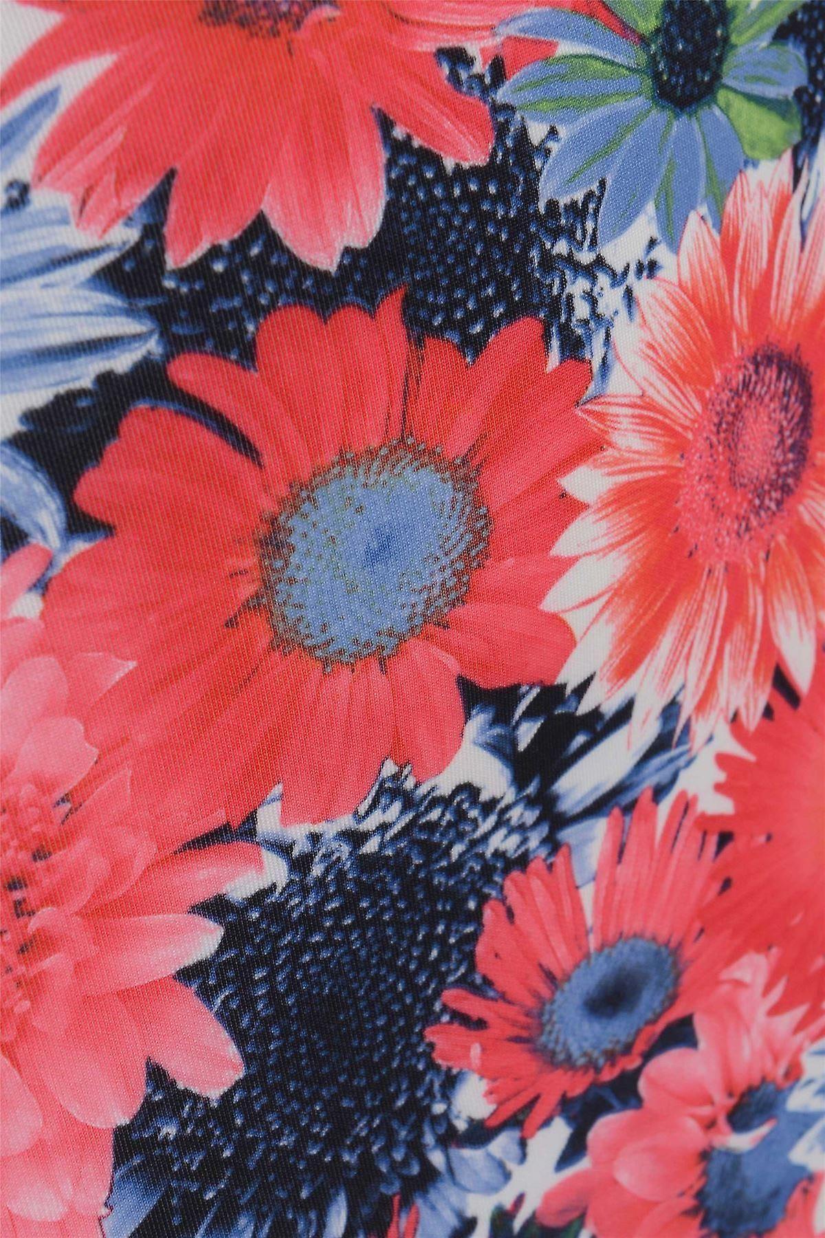 تنورة قلم الأزهار مع هيم Peplum