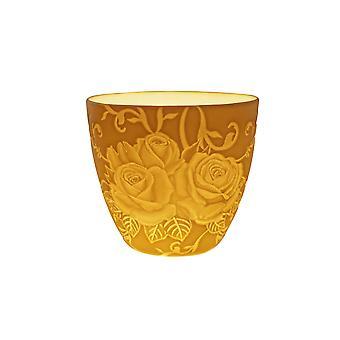 Licht-Glow doppelte Rosen Reliefzeichnung Teelicht Kerze Halterschale