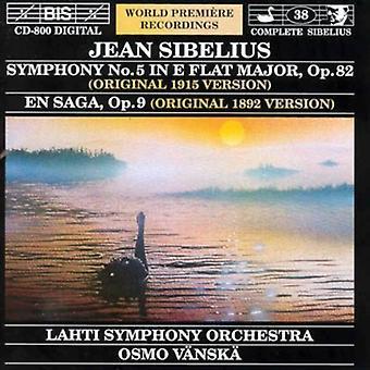 J. Sibelius - Sibelius: Symphony No. 5 (Original 1915 Version); En Saga (Original 1892 Version) [CD] USA import
