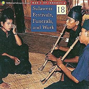Musique de l'Indonésie - Sulawesi Festivals funérailles & USA [CD] importer