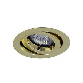 Ansell ICage Mini einstellbare Downlight 50W GU10 Messing