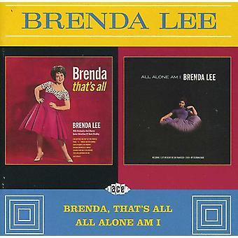 Brenda Lee - Brenda, die All/All allein bin ich [CD] USA importieren