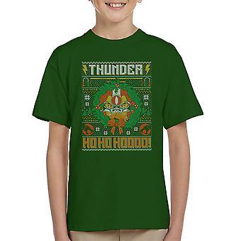 Thundercats Ho Ho Hoooo Christmas Knit Pattern Kid's T-Shirt