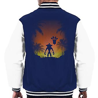 Crash Bandicoot Protector Of The Island Men's Varsity Jacket