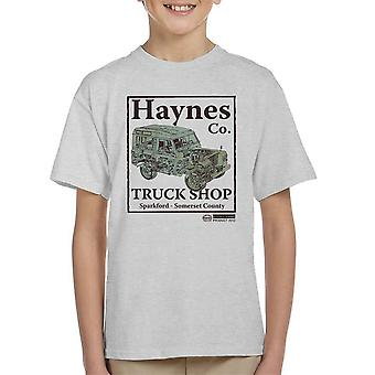 Haynes Brand Truck Shop Sparkford Land Rover Kid's T-Shirt