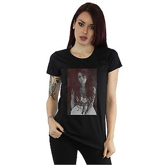 Amy Winehouse femminile torna a gessetto nero bordo t-shirt