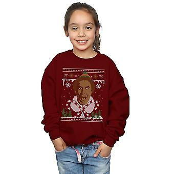 Elf Girls Christmas Fair Isle Sweatshirt