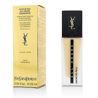 Yves Saint Laurent All Hours Foundation Spf 20 - ' Bd25 Warm Beige - 25ml/0.84oz