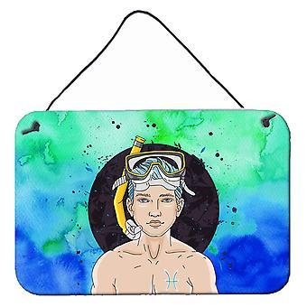 Carolines Treasures  BB7316DS812 Pisces Zodiac Sign Wall or Door Hanging Prints