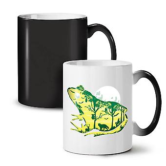 Frog Moon Nature Fantasy NEW Black Colour Changing Tea Coffee Ceramic Mug 11 oz | Wellcoda