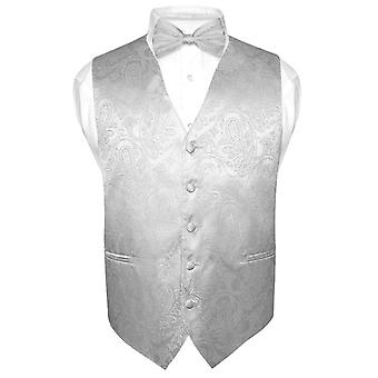 Men's Paisley Design Dress Vest & Bow Tie BOWTie Set