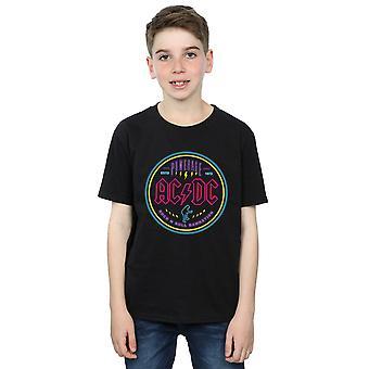 AC/DC Boys Circle Neon T-Shirt