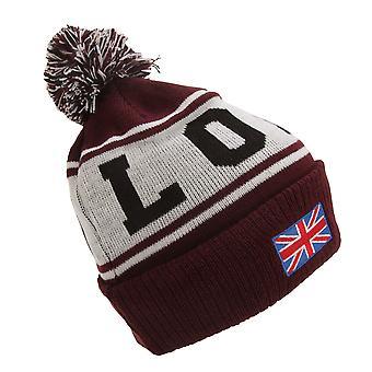 Devoted II Unisex London Design Pom Pom Winter Beanie Hat