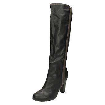 Damen Coco High Heel Knie Länge Stiefel L9326