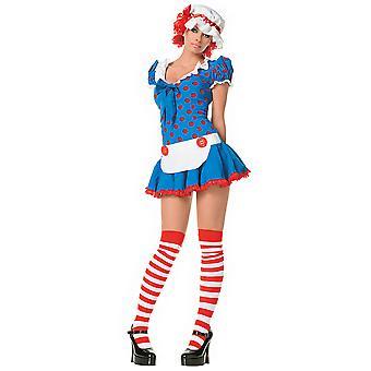 Rag Doll Raggedy Anne Story Book Week Dress Up Women Costume
