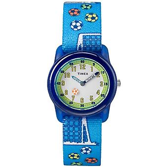 Timex Youth Analogue Blue Strap Soccer TW7C165004E Watch