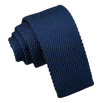 Cravatta in maglia blu navy per ragazzi