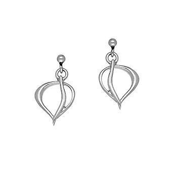 Sterling sølv tradisjonelle moderne moderne Leah Design par øredobber - E1777