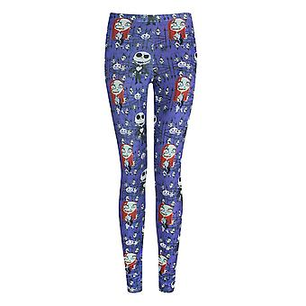 Nightmare Before Christmas Womens/Ladies Jack And Sally Leggings