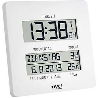 TFA Dostmann 60.4509.02 Radio seinä kello 27 mm x 195 mm x 195 mm valkoinen