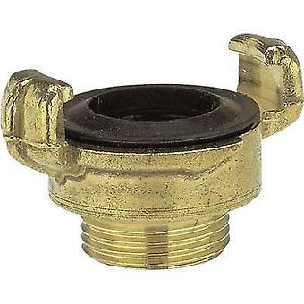 GARDENA 7112-20 Couplage de griffes de serrure en laiton - coupleur de mâchoire de pièce filetée, 20.96 mm (1/2) OT